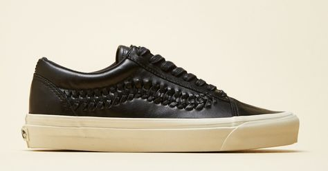 89bba077a8498c ... And Gold Metallic Leather Suave On Deck Vans Leather Old School Weave  DX Sneaker Mens Shoes Pinterest Vans