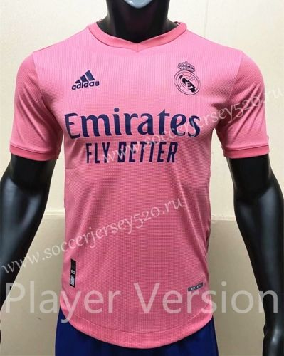 Player Version 2020 2021 Real Madrid Away Pink Thailand Soccer Jersey Aaa In 2020 Soccer Jersey Madrid Football Club Soccer