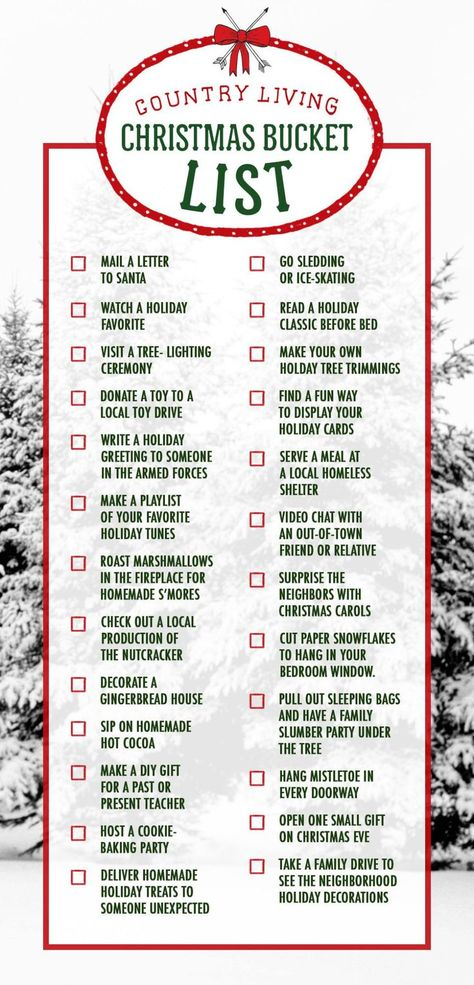 Christmas Bucket List (scheduled via http://www.tailwindapp.com?utm_source=pinterest&utm_medium=twpin)