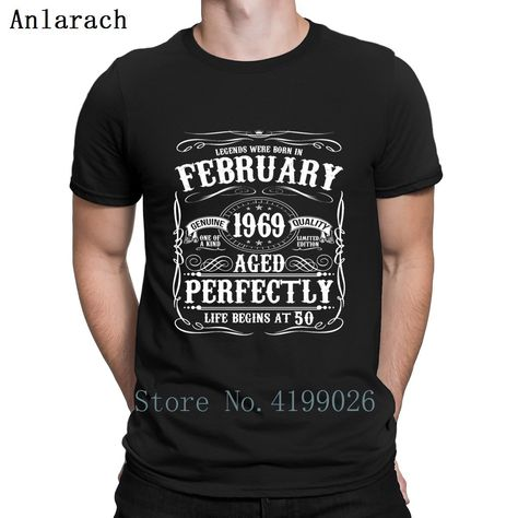 Aged To Perfection 1969 50th Birthday Womens Funny T-Shirt 50 Year Old Gift Top