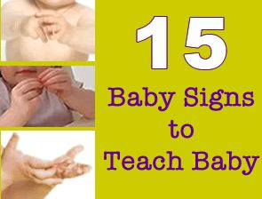 I love baby sign language!