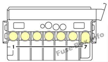 pre-fuse box (diagram): dodge sprinter (2007, 2008, 2009, 2010) | fuse box, fuse  box cover, fuses  pinterest