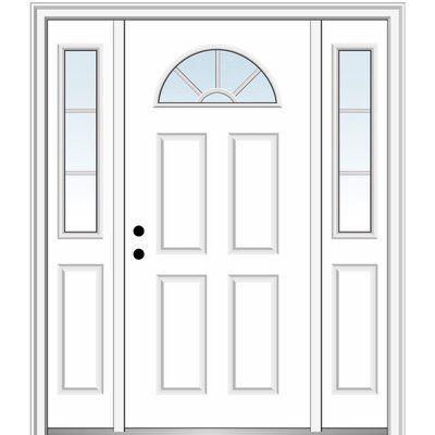 Verona Home Design Smooth Prefinished Fiberglass Prehung Front Entry Door Wayfair In 2020 Mmi Door Front Entry Doors Front Door