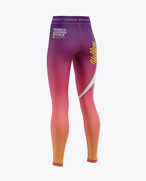 Download Women S Leggings Mockup Back Half Side View In Apparel Mockups On Yellow Images Object Mockups Clothing Mockup Design Mockup Free Shirt Mockup