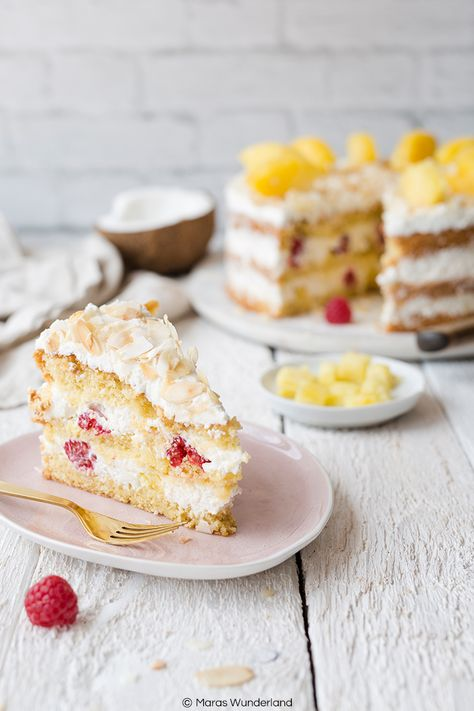 Ananas Kokos Torte Rezept Ananas Kokos Kokosnusskuchen Und Leckere Torten
