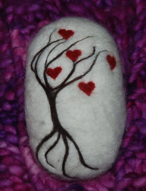 Felted Soap Tree Of Hearts Gift Soap Spring, Christmas Stocking Stuffer