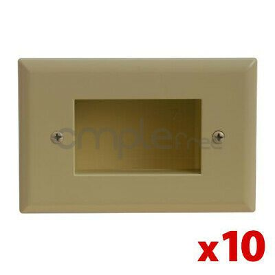 Details About 10x Wall Plate 1 Single Gang Recessed Low Voltage Cable Decora Ivory Lot New In 2020 Plates On Wall Decora Recess