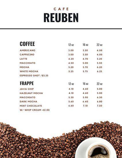 Mint Coffee Shop Menu Templates By Canva Pecinta Kopi Kedai Kopi Kopi