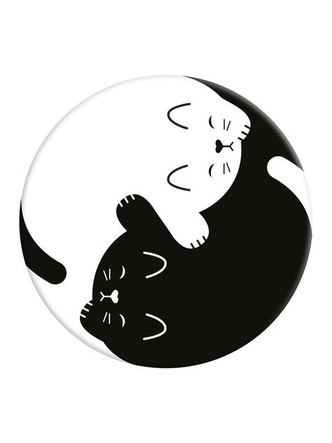 PopSockets Yin Yang Kitten - Phone Stand And Grip
