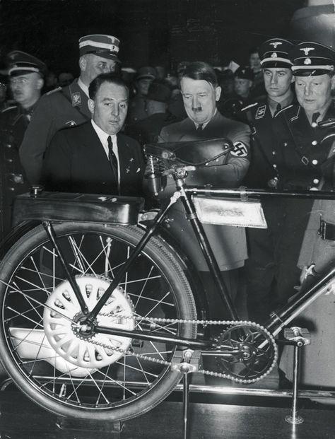 Image result for Hitler on a bike