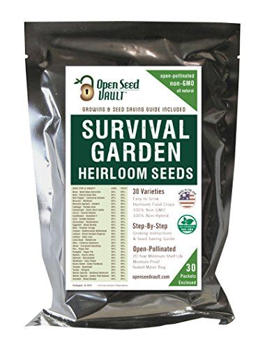 NON-GMO Seed Pack 33 Vegetable Variety Garden Emergency Survival Food Kit 13400