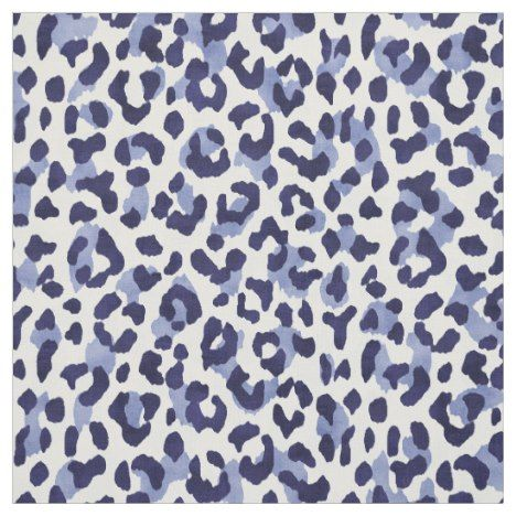 Chic Navy Blue And White Cheetah Print Pattern Fabric Cheetah Print Wallpaper Cheetah Print Print Patterns
