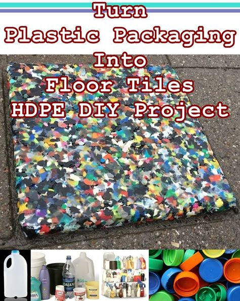 How to Turn Plastic Packaging Into Floor Tiles HDPE DIY Project was designed to introduce homesteading readers to a unique way to reuse household waste