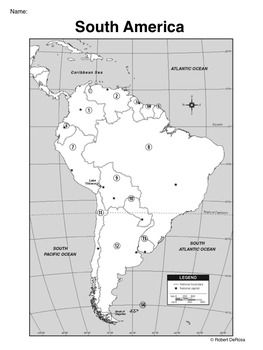 South America Map Black and White Resources Pinterest South