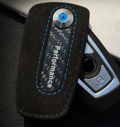 Leather+TPU Car Remote Key Cover Case Fob Keychain For BMW 1 3 5 7 Series X3 X4