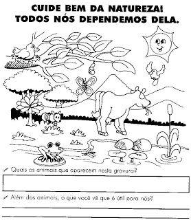 Atividades Sobre Meio Ambiente Para 1º E 2º Anos Animais Plantas