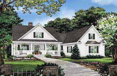 House Plan The Ashbry By Donald A Gardner Architects House Plans Farmhouse Farmhouse Style House Farmhouse Style House Plans