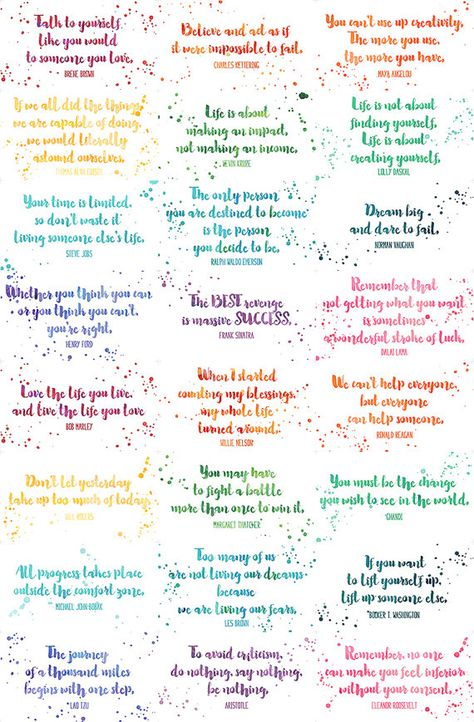 Assorted Inspirational Quotes Cards Calling Card Size