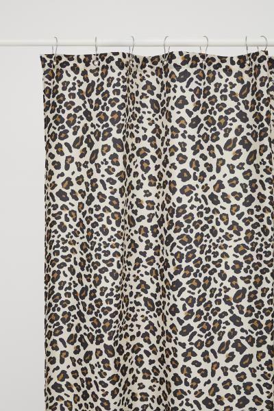Leopard Print Shower Curtain Light Beige Leopard Print Home