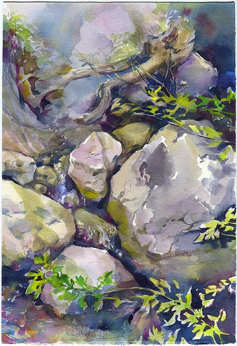 Rocks Watercolor Painting Rock Painting Stones Watercolor
