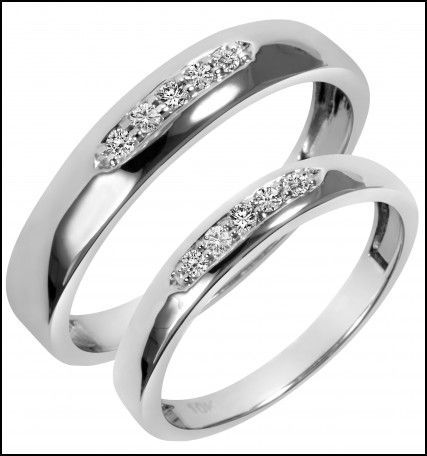 Wedding Rings Sets His And Hers For Cheap Wedding Rings Sets Gold Matching Wedding Rings White Gold Wedding Ring Set