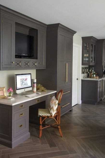 Tv In Keuken 5 436x655 Kitchen Desks Kitchen Desk Areas Home Office Furniture