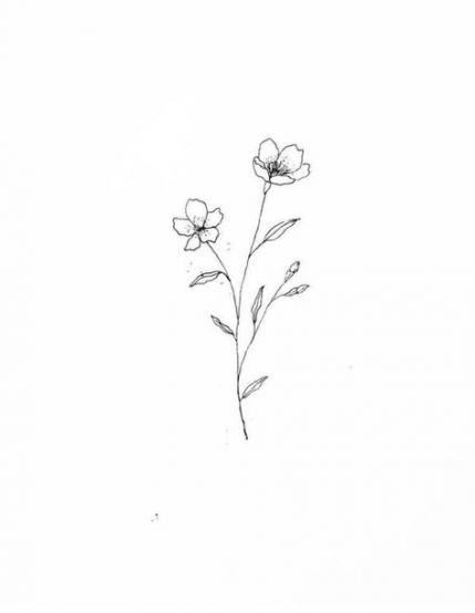 55 Best Ideas For Flowers Drawing Simple Tiny Beautiful Flower Drawings Flower Drawing Small Flower Tattoos
