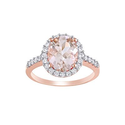 Jewelry Morganite And 3 8 Ct Tw Diamond Ring In 10k Rose Gold With Images Diamond Ring Fashion Rings Fine Diamond Jewelry