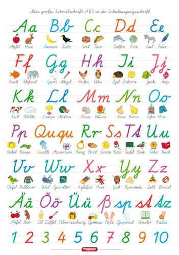 Alphabet In Schulausgangsschrift Schulausgangsschrift Abc Poster Abc