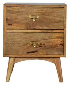 Code In043 100 Solid Wood Mango Wood Crafted By Hand Natural Oak Ish Finish Knock Down Legs Secure Packaging Timber Eu Compliant Nordic Style Modern Bedside Table Solid Wood Furniture
