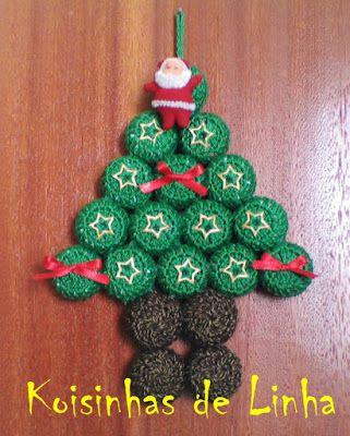 Enfeites De Natal Enfeites De Natal Arvores De Natal De Croche