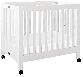 Babyletto Origami Mini Portable Crib With Wheels In White 2