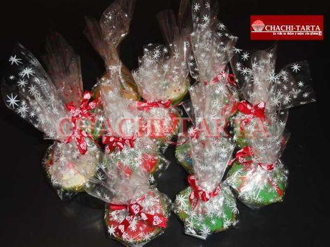 Cupcakes decorados, ideales para regalar en esta navidad!!
