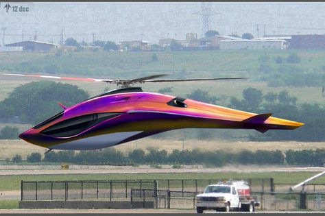 Futuristic helicopter design by Goila Cristian. Design Transport, Colani, Flying Car, Futuristic Cars, Aircraft Design, Private Jet, Transportation Design, Military Aircraft, Cool Cars