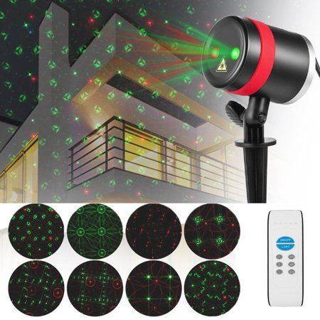 Projector Laser Lights Ip65 Waterproof With Rf Wireless Remote Star Show For Christmas Party Landscape And Garden Decorations Red And Gr Christmas Light Projector Outdoor Christmas Decorations Outdoor Parties