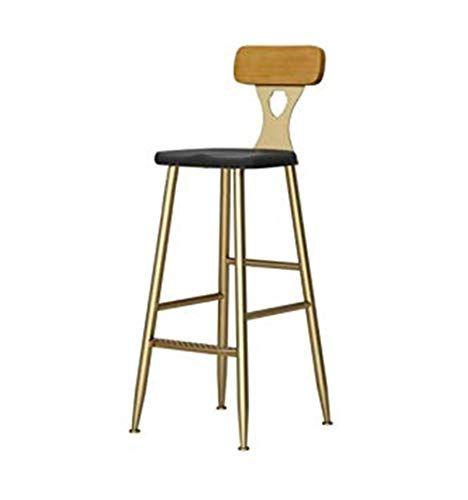 Rhhwjjxb Golden Counter Chair Wrought Iron High Back Bar Stool