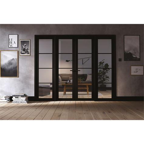 Soho W8 Room Divider Black 2031 X 2478 X 35mm In 2020 Internal Doors Interior Window Trim Interior Barn Doors Diy