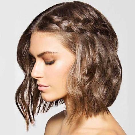Peinados Para Fiestas Sencillos Cabello Largo Soy Moda Novias Con Pelo Corto Peinados Novia Pelo Corto Trenzas En Pelo Corto