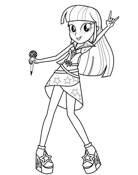 Equestria Girls Coloring Pages My Little Pony Coloring Coloring