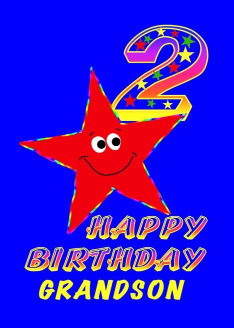 Happy 2nd Birthday Grandson Card Ad Affiliate Birthday Happy Card Grandson Happy 1st Birthdays Happy 7th Birthday Happy Birthday Grandson