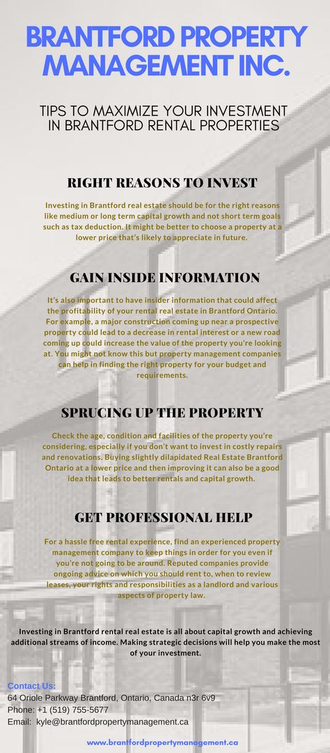 Brantford Property Management, Looking for good real estate - property management agreements