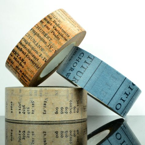 Old Book Washi Tape - 20mm. $4.75, via Etsy.