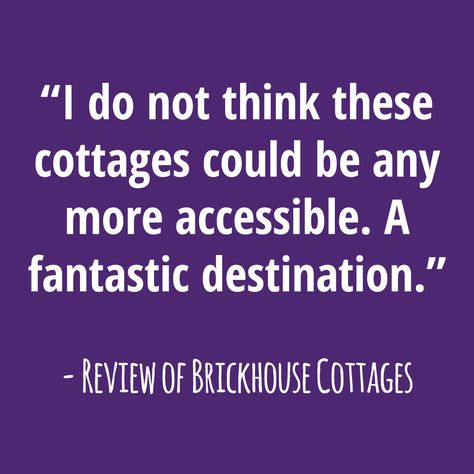 Disabled Access Review Of Brickhouse Cottages In Hambleton