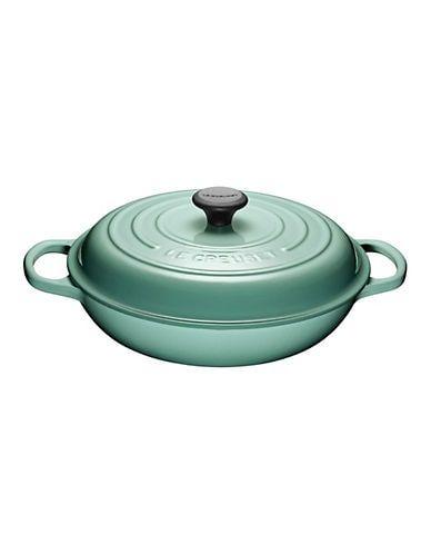 le creuset 3 5l braiser sage size 3 5 l in 2020 oven casserole colorful interiors kitchen essentials pinterest