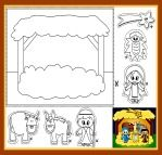 Cut and Paste Nativity Coloring Sheet! Here's a Nativity coloring