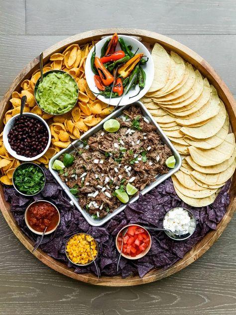 Easy Pork Carnitas Taco Board