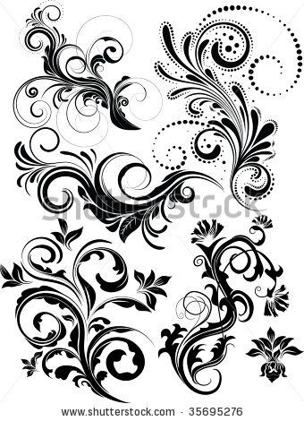 Vector Floral Pack Stock Vector (Royalty Free) 35695276