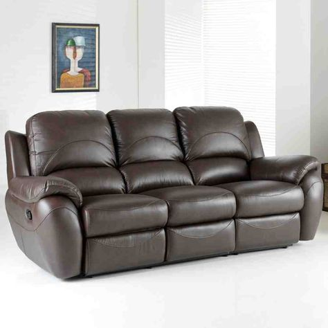 3 Seater Leather Sofa | 3 seater sofa | Leather reclining ...