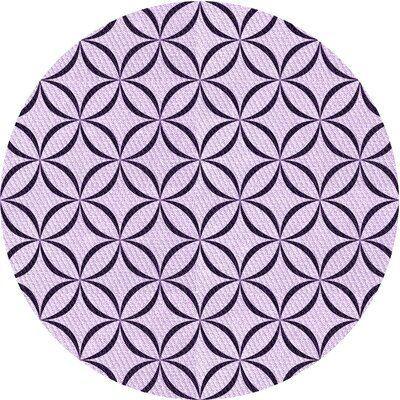 East Urban Home Ginnungagap Geometric Wool Black Purple Area Rug Rug Size Round 3 In 2020 Purple Area Rugs Black Area Rugs Beige Area Rugs
