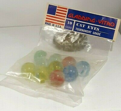 Details About Vintage Gladding Vitro Unopened Bag Of 10 Cat Eye Marbles 2020 10 Things Vintage Ebay